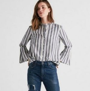 Lucky Brand Striped Bell Sleeve Top